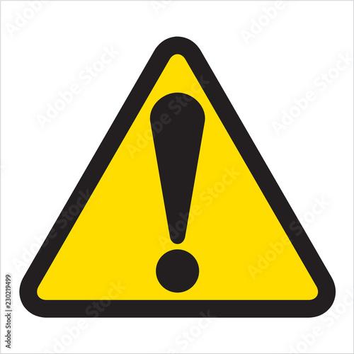 Fotografie, Obraz warning signs