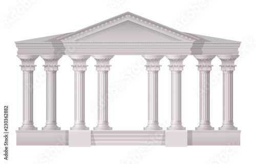 Fotografija Antique White Columns Realistic Composition