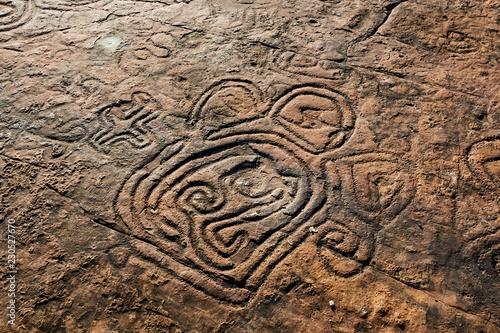 Canvas Print Rock paintings of ancient civilizations