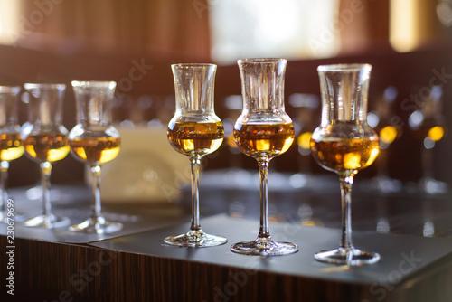 Whiskey tasting, whiskey glass Fototapeta