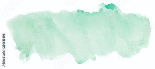 Fotografie, Obraz green watercolor texture