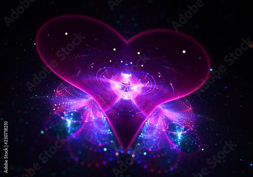 Wallpaper Mural Shine Agape Love Heart  - Soul of Universe  - Divine Grace