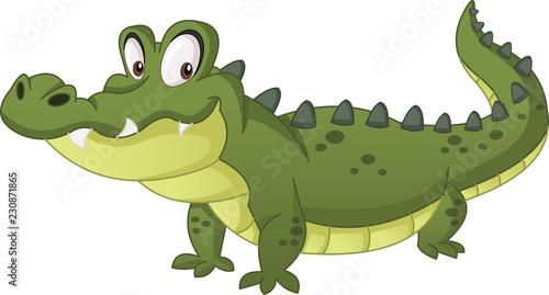 Photo Cartoon cute crocodile