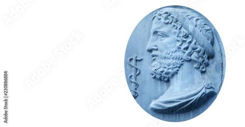 Obraz na plátně Asclepius (Greek Ασκληπιός, Lat