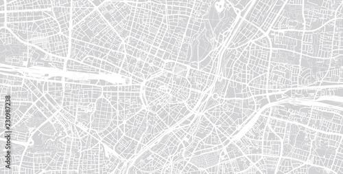 Fotografie, Obraz Urban vector city map of Munich, Germany