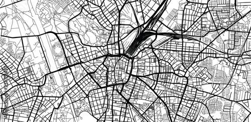 Fotografie, Obraz Urban vector city map of Leipzig, Germany
