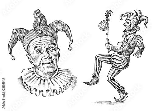 Fotografia, Obraz Funny jester in fool s cap