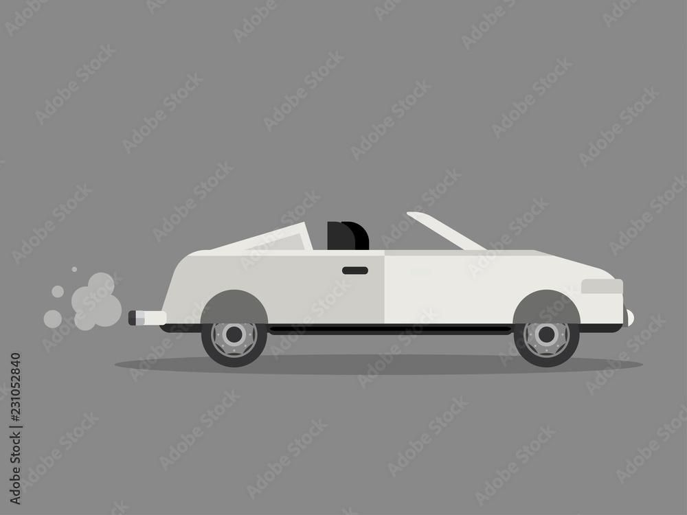 vintage old car white vector set <span>plik: #231052840   autor: lioputra</span>