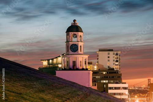 Historic Clock Tower in Halifax Fototapete