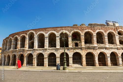 Tela Arena di Verona - ancient Roman amphitheatre in Verona, Italy