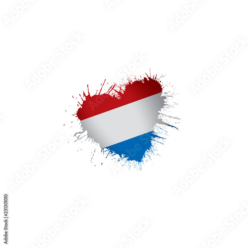 Wallpaper Mural Netherlands flag, vector illustration on a white background