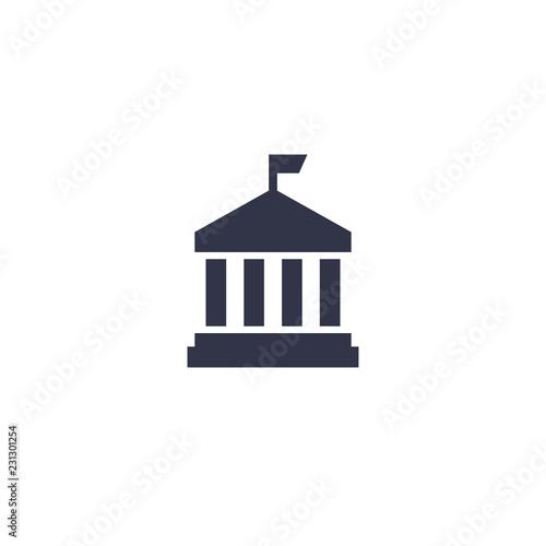 municipal building icon on white Fototapete