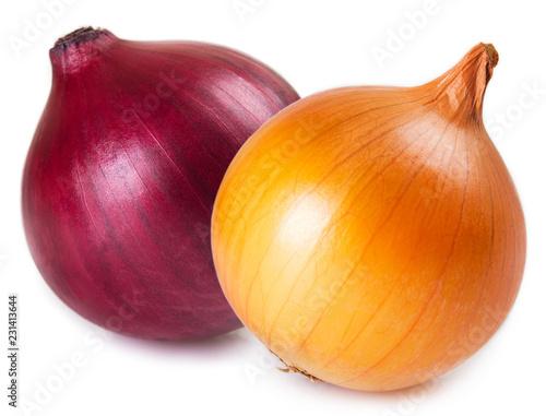 Fresh onion on white background Fototapete