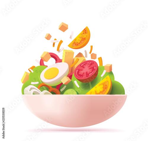 Wallpaper Mural Vector green salad icon