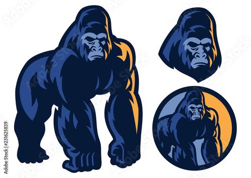 Fototapeta premium duży mięsień maskotki goryla