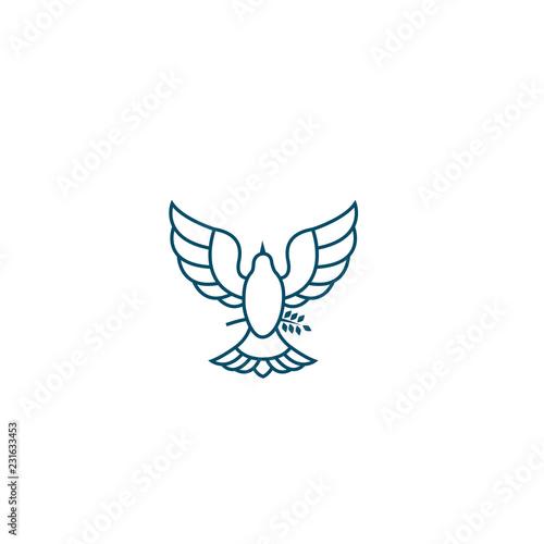 Billede på lærred Dove Of Peace