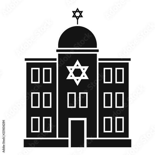 Jewish synagogue icon Fototapeta