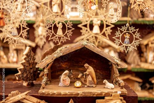 Slika na platnu Nativity scene sold as a Christmas decoration
