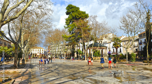 Square of the Constitution in Baeza. Renaissance city in the province of Jaén. World heritage site by Unesco. Andalusia, Spain
