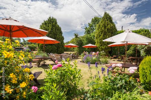 English Country Pub Garden in Summer Fototapeta
