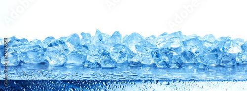 Valokuva Heap of crushed ice isolated on white background