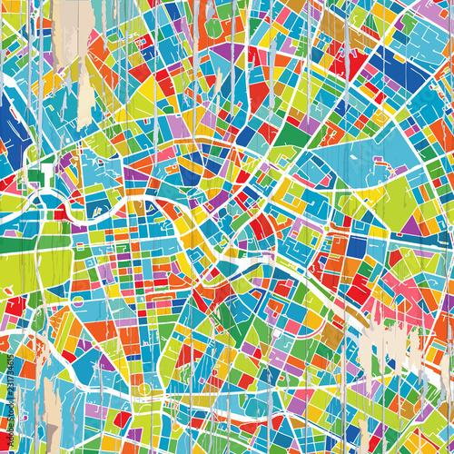 Kolorowa mapa Berlina