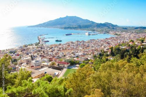 Obraz na plátně View on Zakynthos City, Greece