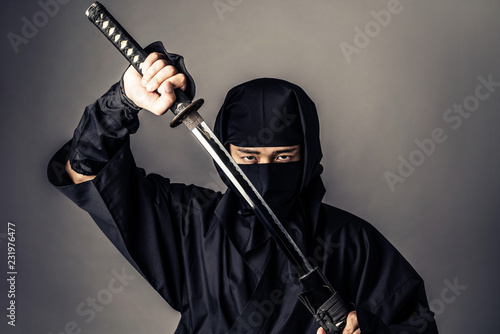 Photo Japanese Ninja concept.