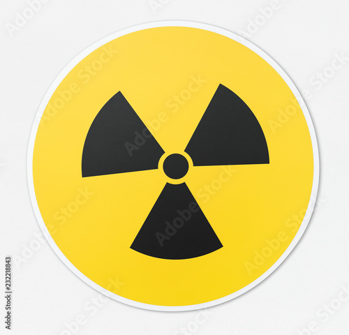Canvas Print Radioactive icon in white background