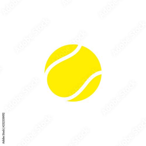 Photo Tennis ball. Icon