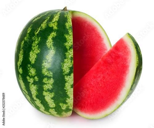 Fresh watermelon on white background
