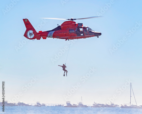 Coast Guard helicopter search and rescue