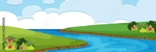 Carta da parati A natural river view