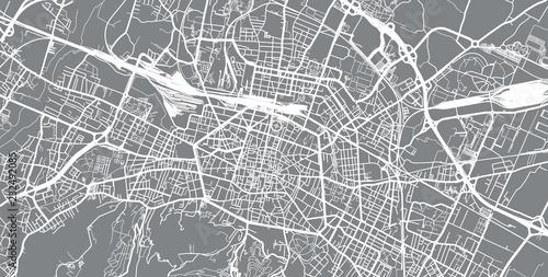 Obraz na plátně Urban vector city map of Bologna, Italy