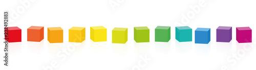 Fotografie, Obraz Colorful cubes