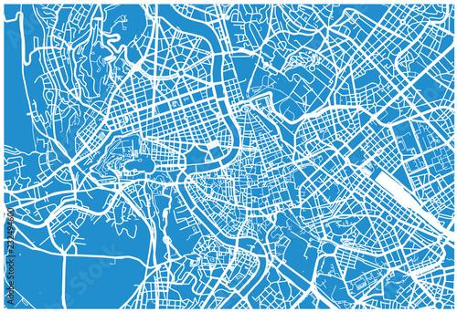 Fototapeta Urban vector city map of Rome, Italy
