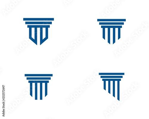 Wallpaper Mural Pillar Logo Template. Column Vector Design