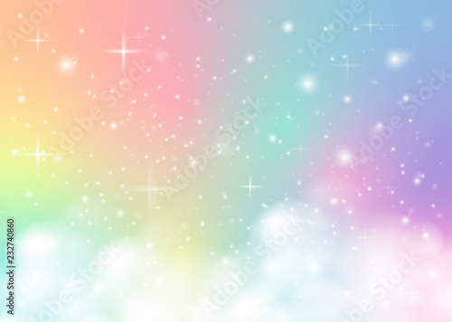 Wallpaper Mural rainbow pastel background