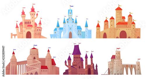Obraz na plátně Medieval castle towers