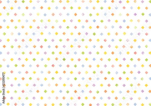 Fotografia 水彩風カラフルな四角いドットの背景