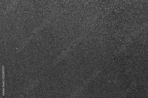 Canvas Black smooth asphalt road texture background top view