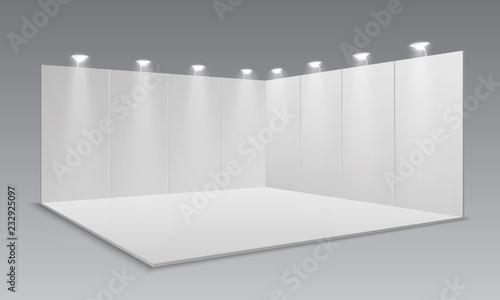 Obraz na plátně Blank display exhibition stand