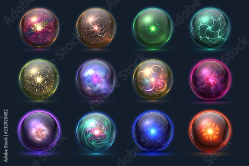 Photo Magical crystal orbs