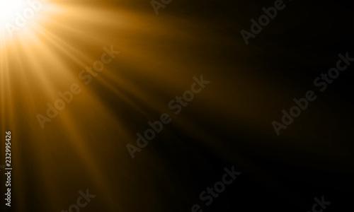 Fotografia Light ray or sun beam vector background