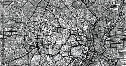 Fotografie, Obraz Urban vector city map of Tokyo, Japan