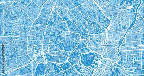 Obraz na plátně Urban vector city map of Tokyo, Japan