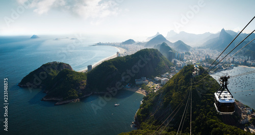 Canvas Print Panorama of Rio de Janeiro from Sugarloaf mountain, Brazil