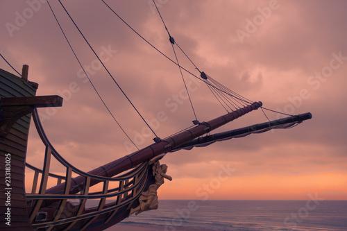 Fotografiet Sailing ship bow figurehead