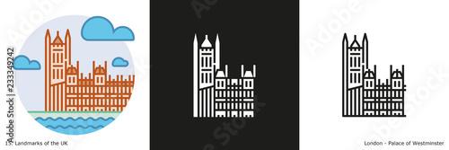 Obraz na plátně Palace of Westminster Icon - London
