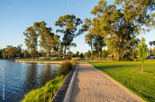 Canvas Print Victoria Park Lake in Shepparton in regional Victoria in Australia